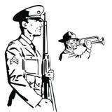 soldatvektor royaltyfri illustrationer