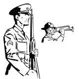 soldatvektor Royaltyfria Foton