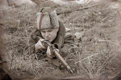 soldatwwi Arkivbild