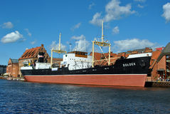 Soldek ship Gdansk Royalty Free Stock Images