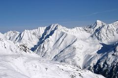 Solden: der Mountain View Lizenzfreies Stockfoto