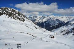 Solden ośrodek narciarski Fotografia Royalty Free