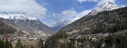 Solden in Otztal Valley Royalty Free Stock Images