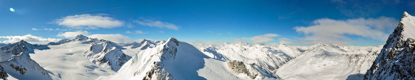 Solden-Panorama stockbild
