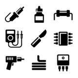 Solder Icons Set Stock Photo