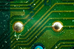 Solder points Royalty Free Stock Photo