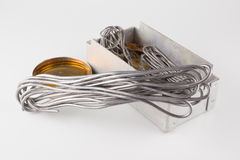 Solder and rosin are used for soldering Royalty Free Stock Images