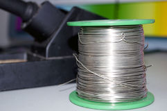 Solder wire. The photo of the Solder wire royalty free stock photography
