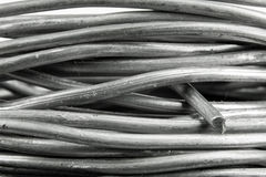 Solder wire. Close up of a roll of solder wire stock photo