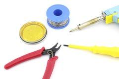Solderende hulpmiddelen en toebehoren Stock Afbeelding