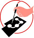 Soldering. Isolated illustrated soldering hand clip art Stock Image