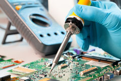 Soldering Royalty Free Stock Photography