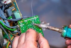 soldering Stock Afbeelding
