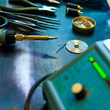 Soldering background Stock Images