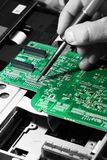 Soldering circuit board Royalty Free Stock Photo