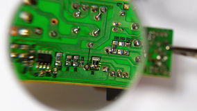 Soldering a Circuit Board stock video