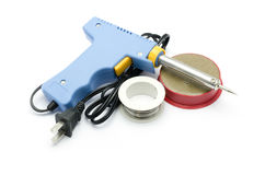 Soldering equipment Royalty Free Stock Photos