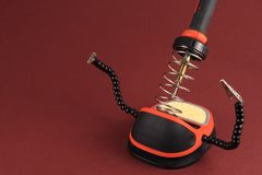 Soldering Iron Detail Royalty Free Stock Photo