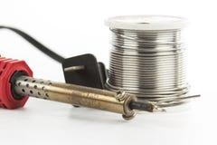 Soldering iron soldering wire Stock Image