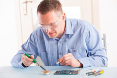 Soldering stock image