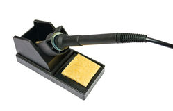 Soldering station for mounting electronics Stock Image