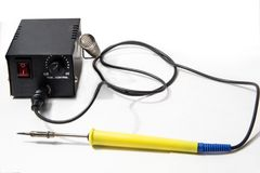 Soldering station royalty free stock photography