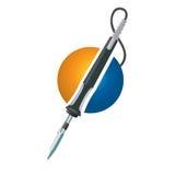 Soldering Welding Iron Tool logo Stock Image