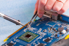 Soldering royalty free stock photo