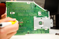 Soldering work Royalty Free Stock Images