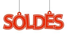 Soldes是用说明标签 免版税库存图片