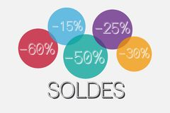 Soldes Stockfoto