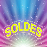 soldes abstraits de fond Photos stock