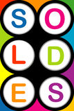 Soldes background Stock Photos