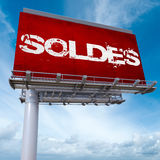 Soldes billboard Stock Photography