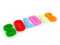 Soldes concept Royalty Free Stock Photo