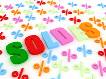 Soldes concept Royalty Free Stock Photography