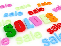Soldes concept Royalty Free Stock Photos