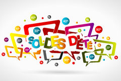 Soldes d'ete Royalty Free Stock Photo