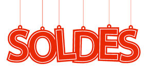 Soldes hangtag Royalty Free Stock Photo