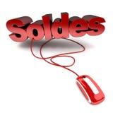 Soldes in linea Immagini Stock