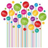 Soldes tag. Colorful graphic design over white Royalty Free Stock Photography