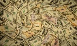 Soldi americani storti dei contanti delle banconote Fotografie Stock Libere da Diritti