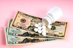 Soldi & medicina Fotografia Stock