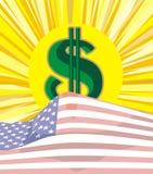 Soldi - aumentare del dollaro Fotografia Stock Libera da Diritti