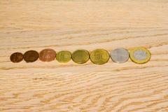 Soldi bielorussi e monete Fotografia Stock