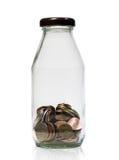 Soldi in bottiglia Fotografia Stock Libera da Diritti