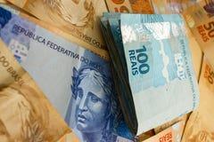 Soldi brasiliani Fotografia Stock Libera da Diritti