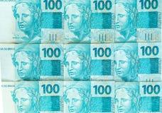 Soldi brasiliani, reais, alte denominazioni, concetto di affari immagine stock libera da diritti