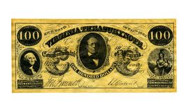 Soldi confederati Fotografia Stock Libera da Diritti