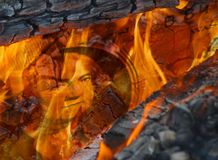 Soldi da bruciare Fotografie Stock